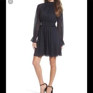 CHELSEA28 SMOCKED DRESS